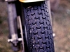 The BMW\'s front tyre at the end of the 1976 Six Hour