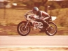 Ken on Rusty Cragill\'s TZ350 Yamaha, Bathurst 1977